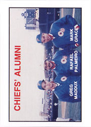 1988 Peoria Chiefs/Kodak Minor League #NN Chiefs' Alumni w/Maddux, Palmeiro