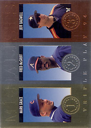 1994 Donruss Triple Play #4 Medalists with Fred McGriff, Jeff Bagwell