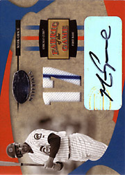 2005 Leaf Certified Materials #FG77 Fabric of the Game Autograph Jersey 17 SN#1/1