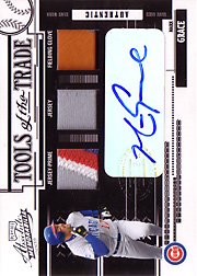 2005 Playoff Absolute Memorabilia #TT150 Tools of the Trade Auto/Patch/Jersey/Glove Black SN#1/1