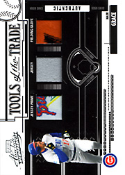 2005 Playoff Absolute Memorabilia #TT-150 Tools of the Trade Patch/Jersey/Glove Black SN#1/1