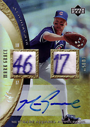 2005 Upper Deck MLB Artifacts #MLB-MK Appareal Jersey Tags Autograph SN#1/1