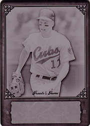 2006 Fleer Greats of the Game #64 Black Printing Plate SN#1/1