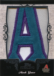 2007 Topps Sterling #NN Letter Patch A SN#1/1