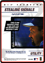 2000 MLB Showdown #S54 Stealing Signals Strategy Card