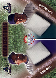 2002 Fleer Platinum #40CS Cornerstones Black Letters with Matt Williams