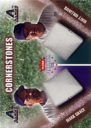 2002 Fleer Platinum #40CS Cornerstones White Letters SN#1274/2000 with Matt Williams