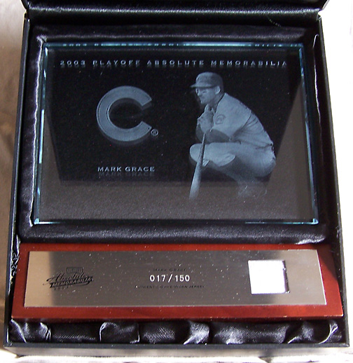 2003 Playoff Absolute Memorabilia Glass Plaques Jersey SN#017/150