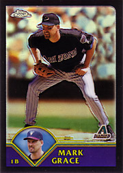 2003 Topps Chrome #390 Black Refractor SN#044/190