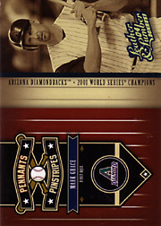 2004 Donruss Leather & Lumber #PP-8 Pennants Pinstripes Spectrum SN#025/100