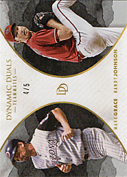 2018 Topps On Demand #15 Dynamic Duos Teammates with Randy Jphnson Black SN#4/5