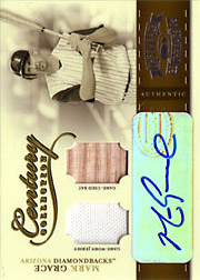 2004 Donruss Throwback Threads #CC56 Century Collection Jersey/Bat/Autograph SN#08/10