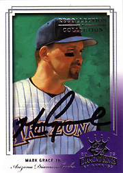 2004 Donruss Diamond Kings #77 2003 Diamond Kings Recollection Collection Autograph SN#5/7