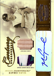 2004 Donruss Throwback Threads #CC56 Century Collection Patch/Bat/Autograph SN#01/10