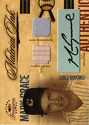 2004 Donruss Timeless Treasures #MI19 Material Ink Jersey/Bat/Autograph SN#06/10
