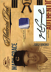 2004 Donruss Timeless Treasures #MI19 Material Ink Patch/Autograph SN#05/10