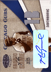 2004 Leaf Certified Materials #FG74 Fabric of the Game Jersey 1B/Autograph SN#4/5