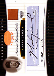 2004 Leaf Certified Cuts #CC-44 Cuts Blue Glove/Autograph SN#29/50