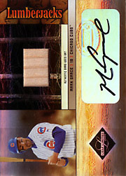 2004 Leaf Limited #LJ-23 Lumberjacks Bat/Autograph SN#07/17