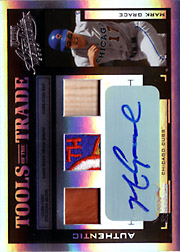2004 Playoff Absolute Memorabilia #TT-88 Tools of the Trade Black Glove/Patch/Bat/Autograph SN#1/5