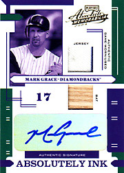 2004 Playoff Absolute Memorabilia #AI-81 Absolutely Ink Jersey/Bat/Autograph SN#3/5