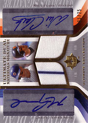 2004 Upper Deck Ultimate Collection #DJS-MW Ultimate Materials Signature Dual Jersey/Autograph with Will Clark SN#25/25