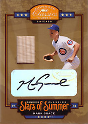 2005 Donruss Classics #BOS-18 Stars of Summer Bat/Autograph SN#18/25