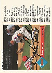 2005 Donruss #77 Recollection Collection Auto 1993 Donruss Checklist SN#1/1