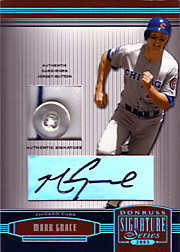 2005 Donruss Signature Series #30 Jersey Button/Autograph SN#5/6