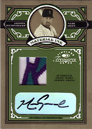 2005 Donruss Timeless Treasures #MI-48 Material Ink Patch/Autograph SN#5/5