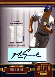 2005 Donruss Signature Series #30 Jersey 1B/Autograph Black Ink #05/25