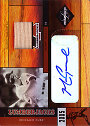 2005 Leaf Limited #LJ-23 Lumberjacks Bat/Autograph SN#16/25