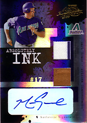 2005 Playoff Absolute Memorabilia #AI-128 Absolutely Ink Jersey/Glove/Autograph Spectrum SN#05/25