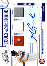 2005 Playoff Absolute Memorabilia #TT-83 Tools of the Trade Blue Glove/Dual Jerseys/Autograph SN#4/5