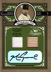 2005 Donruss Timeless Treasures #MI-48 Material Ink Jersey/Bat/Autograph SN#09/25