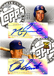 2005 Topps Rookie Cup #DRC-GS Rookie Cup Dual Autographs with Ron Santo