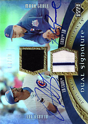 2005 Upper Deck Artifacts #DA-LG Dual Signature Jerseys/Autographs with Derrek Lee SN#07/10