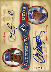 2005 Upper Deck SP Legendary Cuts #DU-GS Legendary Duos Dual Autograph SN#15/15