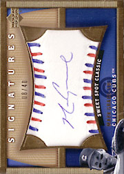 2005 Upper Deck Sweet Spot Classic #MG Signatures Autograph Red/Blue Stitch SN#08/40