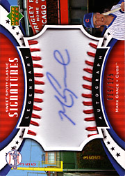 2007 Upper Deck Sweet Spot Classic #SPS-MG Legendary Autograph Red Stitch Ball Blue Ink SN#019/125
