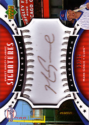 2007 Upper Deck Sweet Spot Classic #SPS-MG Legendary Autograph Silver Stitch Ball Black Ink SN#03/25