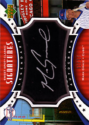 2007 Upper Deck Sweet Spot Classic #SPS-MG Legendary Autograph Black Bat Silver Ink SN#01/17