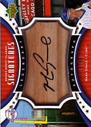 2007 Upper Deck Sweet Spot Classic #SPS-MG Legendary Autograph Bat Black Ink SN#28/50