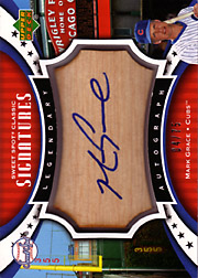 2007 Upper Deck Sweet Spot Classic #SPS-MG Legendary Autograph Bat Blue Ink #04/75