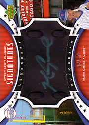 2007 Upper Deck Sweet Spot Classic #SPS-MG Legendary Autograph Black Leather Green Ink SN#02/17