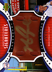 2007 Upper Deck Sweet Spot Classic #SPS-MG Legendary Autograph Brown Leather Gold Ink SN#04/50