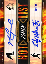 2012 Upper Deck SP Signature Edition Hot List Dual Autograph w/Edgar Martinez #HOT2-88 SN#18/25
