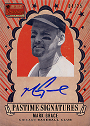 2013 Panini America's Pastime Pastime Signatures #GR Gold SN#04/25