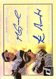 2015 Donruss Signature Series #7 Preferred Pairings Dual Autograph with Luis Gonzalez SN#05/10