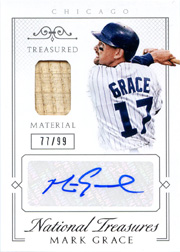 2015 National Treasures #65 Treasured Material Bat/Auto SN#77/99